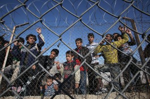 ansa - giuliana devivo - Illegal immigrants are seen in a detention center in Kyprinos, in the region of Evros, at the Greek-Turkish borders